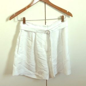 White high waisted retro-style shorts